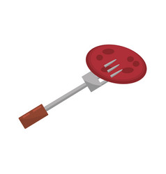meat fork food picnic vector image