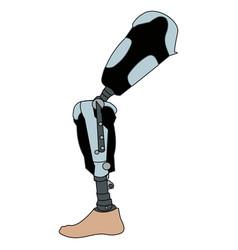 Modern exoskeleton prosthetic leg mechanism vector