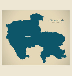 Modern map - savannah region map ghana gh vector