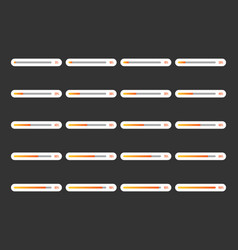 modern progress bar icon set vector image