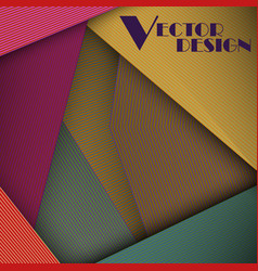 Multicolored abstract line card background use vector