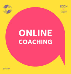 online coaching icon vector image
