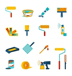 Painting icons flat vector image