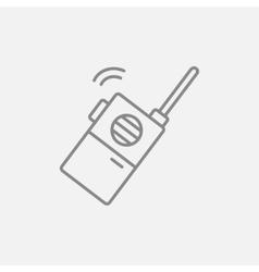 Portable radio set line icon vector image