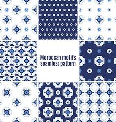 Portuguese Azulejos set of patterns vector