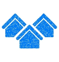 Real Estate Grainy Texture Icon vector