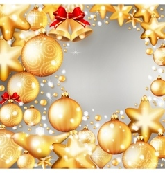 Red and gold christmas background eps 10 vector