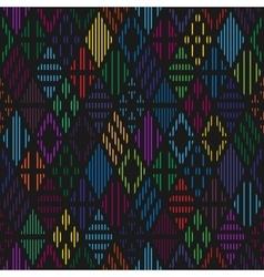 Rhombuses seamless pattern vector