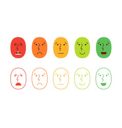 Satisfaction rating set of feedback icons in form vector