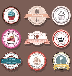 Set of bakery logo labels and badges vector