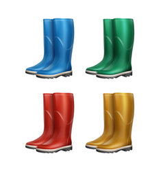 Set of dubber boots vector