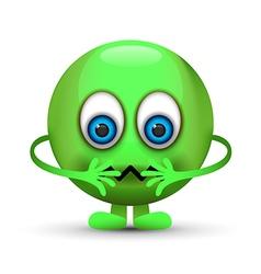 Sick emoji character vector