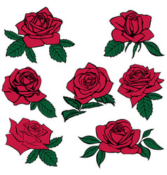 Silhouettes of roses vector