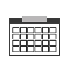 single calendar icon vector image