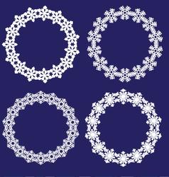 snowflake wreaths vector image