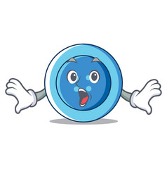 Surprised clothing button character cartoon vector