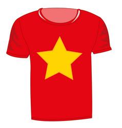 T-shirt flag vietnam vector