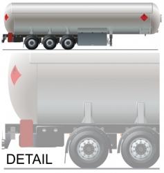 Tanker car vector