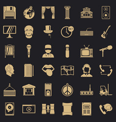 Technique icons set simple style vector