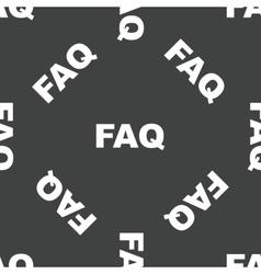 Text FAQ pattern vector