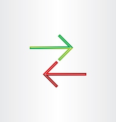 two arrows direction symbol vector image