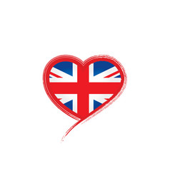 United kingdom flag on a vector