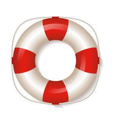 white life buoy vector image