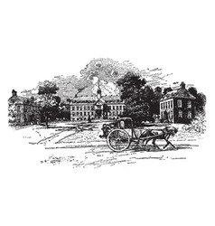 William and mary college 1723 or college of vector