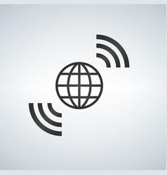 wireless world wifi earth broadband symbol vector image