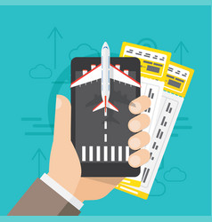airline tickets online buying or booking vector image vector image