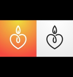 Candle light romantic logo vector image vector image