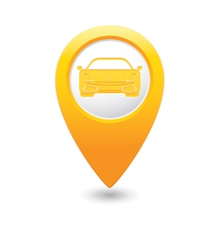 car MAP pointer yellow vector image