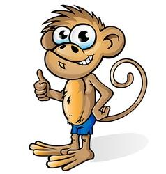 fun monkey cartoon vector image vector image