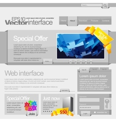 gray website template 960 vector image vector image