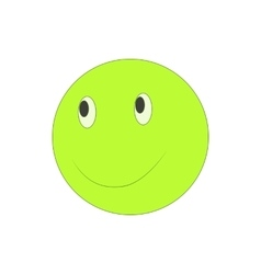 Happy smiley emoticon icon cartoon style vector image