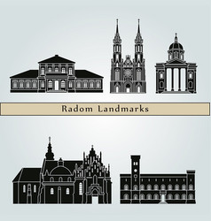 radom landmarks vector image vector image