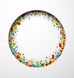 White round festive background vector