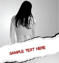 back torn vector image vector image