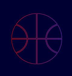 basketball ball sign line vector image