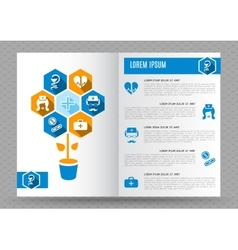 Brochure medical design template vector image