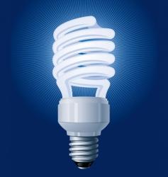 CFL bulb vector image