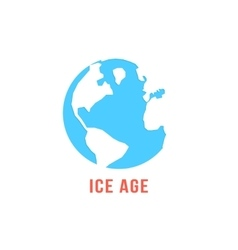 ice age with blue planet earth vector image