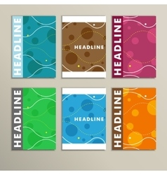 Set of color round for abstract cover design vector image vector image