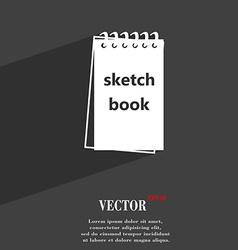 Sketchbook symbol flat modern web design with long vector