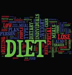 find out which special diet will work for you vector image