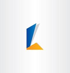 letter l symbol design vector image vector image
