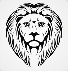 Lions Head Tattoo Design vector image vector image