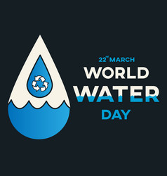 water day reuse vector image vector image