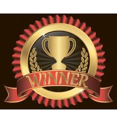 Winner Gold Label vector image