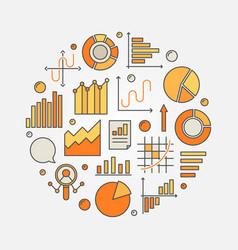 data analytics concept vector image vector image